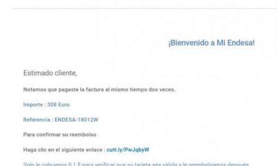 AionSur ec8f4982-5b92-4c78-9a97-d86fce83dbba-400x240 Denuncian una nueva estafa en nombre de Endesa que llega por correo electrónico Sociedad  dsestacado