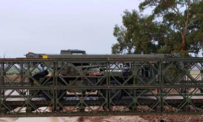 AionSur puente-rubio-400x240 La ministra de Defensa visita El Rubio para ver las labores de desmontaje del puente instalado por el Ejército Provincia Sociedad