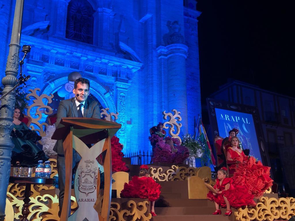 """AionSur rancio-pregon Julio Muñoz: """"Con las aceitunas se puede explicar la vida"""" Arahal Feria del Verdeo destacado"""