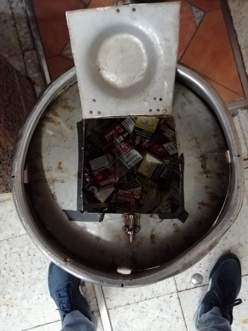 AionSur tabaco-contrabando Intervenidas 178 cajetillas de tabaco ilegal durante la feria de Lebrija Contrabando Sucesos