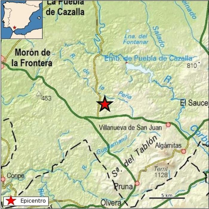 AionSur terremoto-copia Sentidos dos terremotos, en La Puebla de Cazalla y Villanueva de San Juan Provincia Sucesos