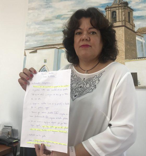"""AionSur Huevar_Alcaldesa_2-560x600 La alcaldesa de Huévar: """"El pueblo está abochornado con la compra de votos"""" Política Provincia"""