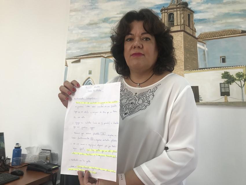 """AionSur Huevar_Alcaldesa_2 La alcaldesa de Huévar: """"El pueblo está abochornado con la compra de votos"""" Política Provincia"""