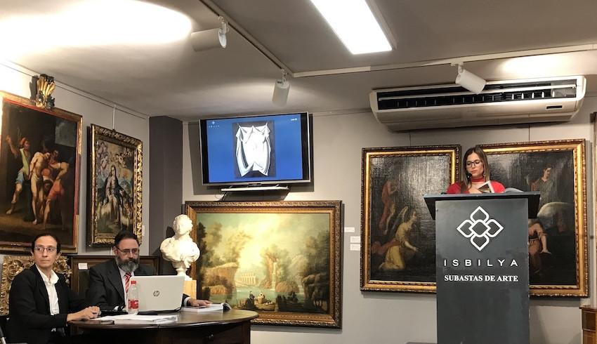 AionSur Subasta-1 Queda desierta la subasta de 'La Santa Faz' inédita de Zurbarán Cultura Sevilla