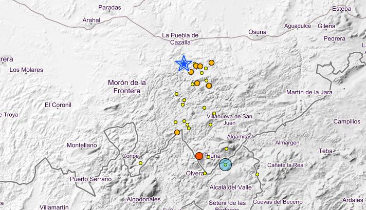 AionSur Terremotos La Sierra Sur de Sevilla registra más de 30 terremotos en un mes Provincia Sucesos