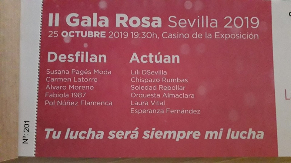 AionSur gala-rosa Lazo Rosa organiza su II Gala Rosa contra el cáncer de mama en Sevilla Salud Sevilla