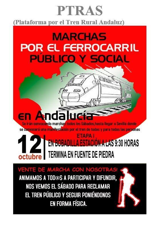 AionSur tren-compressor Comienzan las marchas por la defensa del ferrocarril público y social Arahal