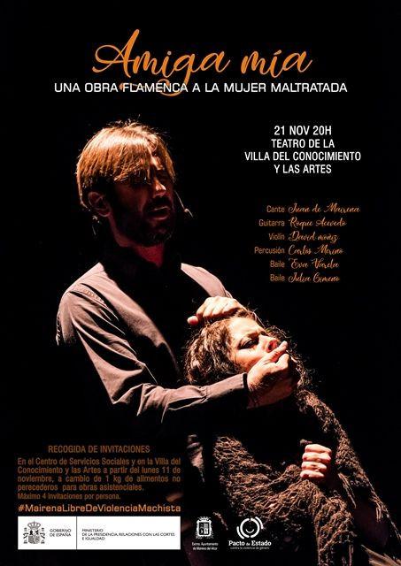 AionSur EspectáculoAmigaMía-compressor Una obra flamenca a la mujer maltratada, para conmemorar el día contra la violencia de género Mairena del Alcor