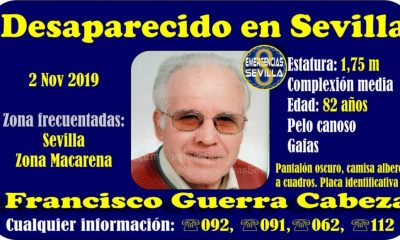 AionSur desaparecido-400x240 Buscan a un anciano con alzheimer desaparecido en Sevilla Sevilla Sucesos  destacado