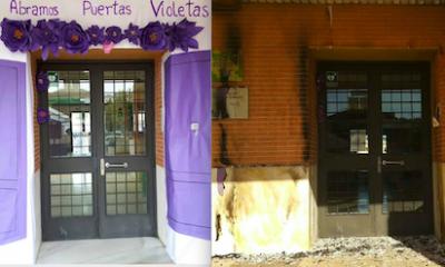 AionSur Instituto-incendio-400x240 Queman el mural contra la violencia de género de un instituto de La Rinconada Sucesos Violencia Machista