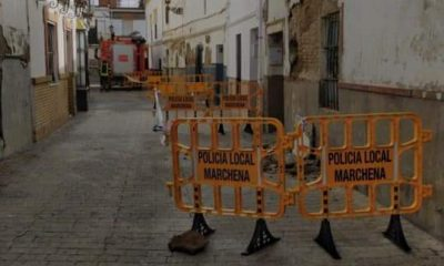 AionSur calle-cantareros-400x240 Cortada la calle Cantareros de Marchena por el desprendimiento de dos fachadas Marchena Sucesos