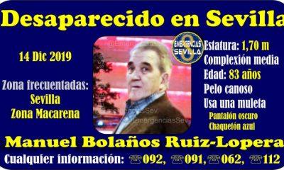 AionSur desaparecido-Sevilla-400x240 Buscan a un anciano enfermo de alzheimer desaparecido en Sevilla Sevilla Sucesos