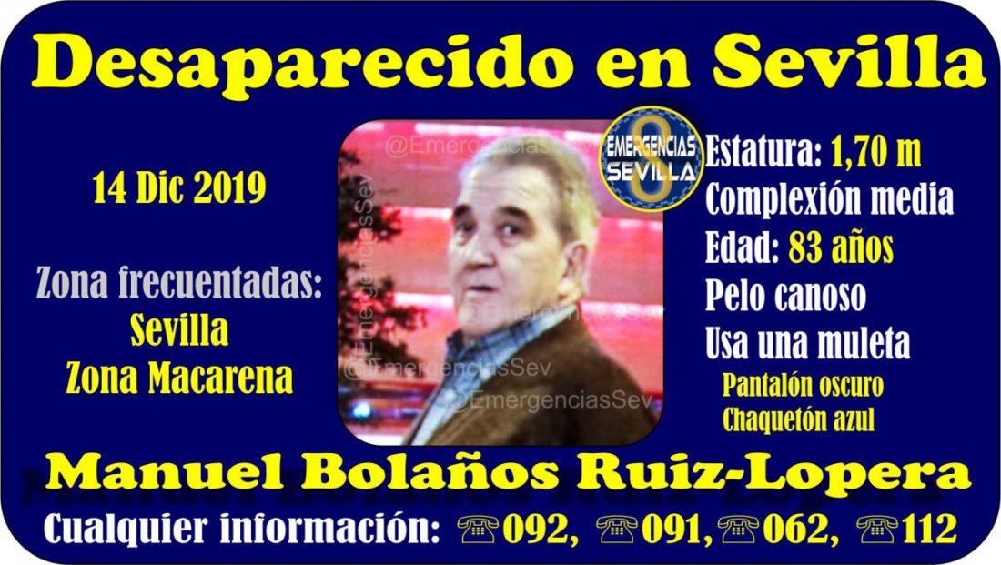 AionSur desaparecido-Sevilla Buscan a un anciano enfermo de alzheimer desaparecido en Sevilla Sevilla Sucesos