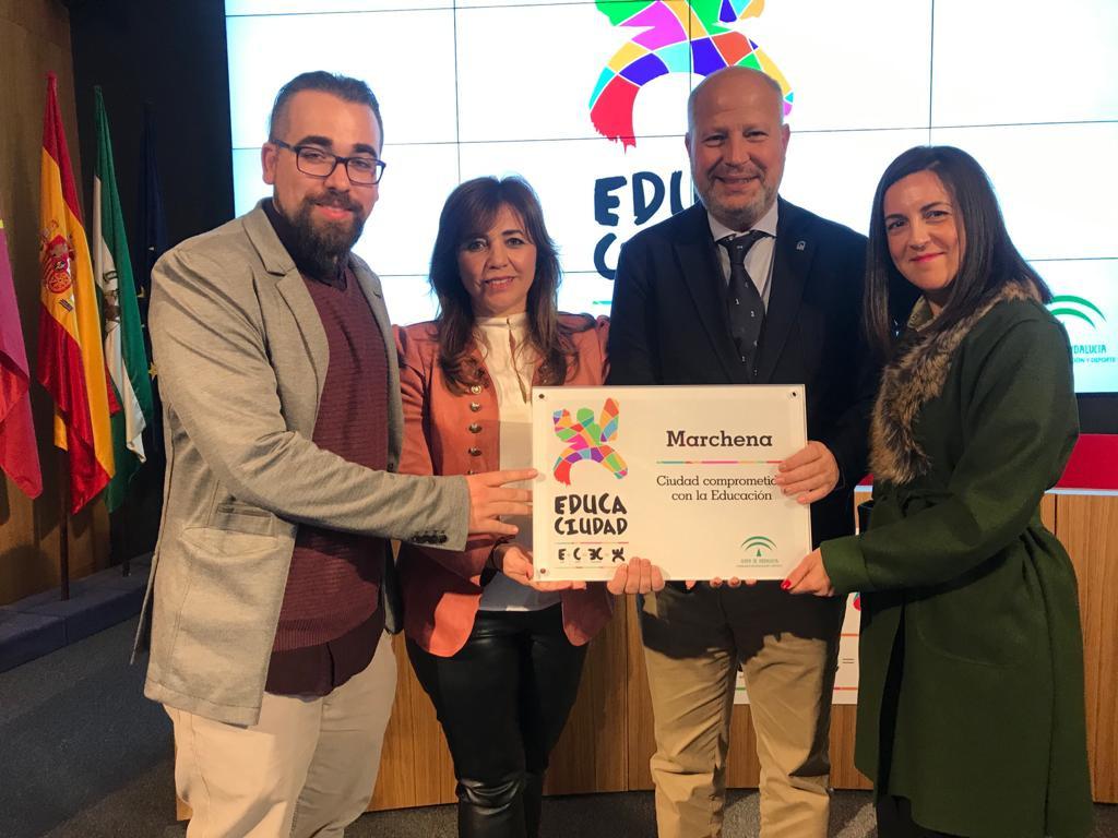 AionSur marchena-educa-2 La Junta premia al Ayuntamiento de Marchena por su compromiso con la educación Educación Marchena