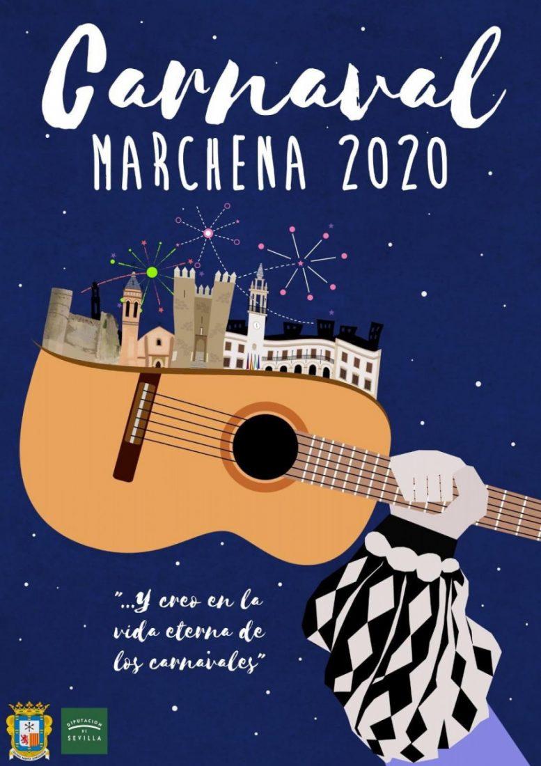 AionSur 380fb60a-21cc-4319-8e31-e5dd0217c26a-compressor Marchena homenajea a Juan Carlos Aragón en su cartel de Carnaval 2020 Marchena