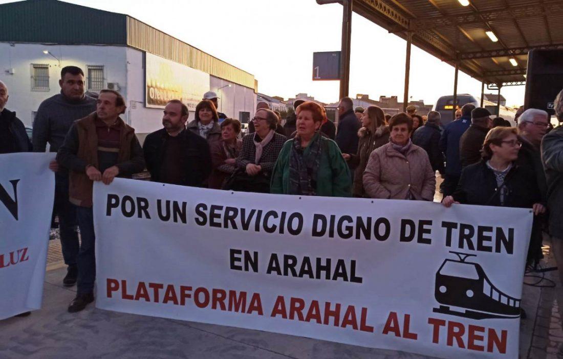 AionSur 712c45c4-9fac-42ca-b442-44b86d2bc72f-compressor Las Plataformas en Defensa del Tren convocan una gran manifestación para el 15 de febrero Andalucía Arahal Sierra Sur  destacado