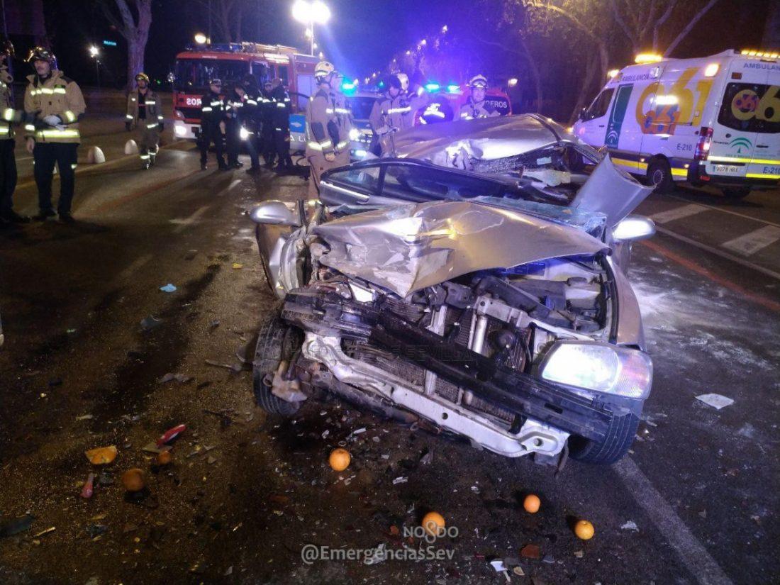 AionSur Accidente-Sevilla Da positivo en cuatro drogas tras un accidente en Sevilla con cinco heridos, dos críticos Sevilla Sucesos