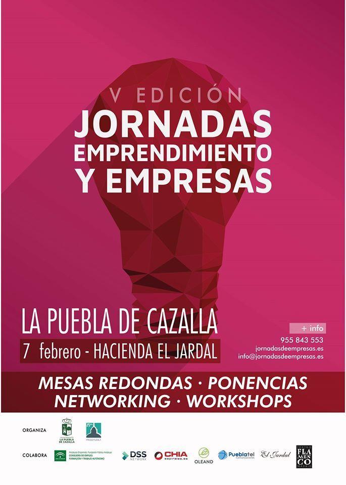 AionSur EOU6Gu_WkAEYOau-compressor La V Jornada de Emprendimiento y Empresa de La Puebla de Cazalla será el día 7 de febrero La Puebla de Cazalla