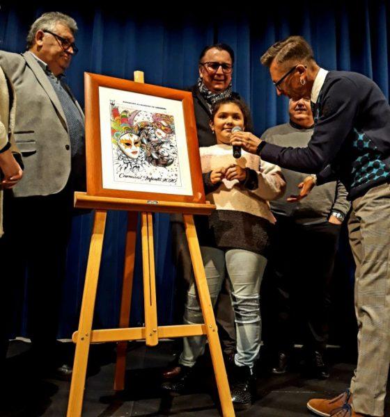 AionSur Ganadora-cartel-infantil-compressor-560x600 Un arlequín veneciano anuncia el carnaval de Alcalá, que abre con la elección de sus reinas Alcalá de Guadaíra Carnavales