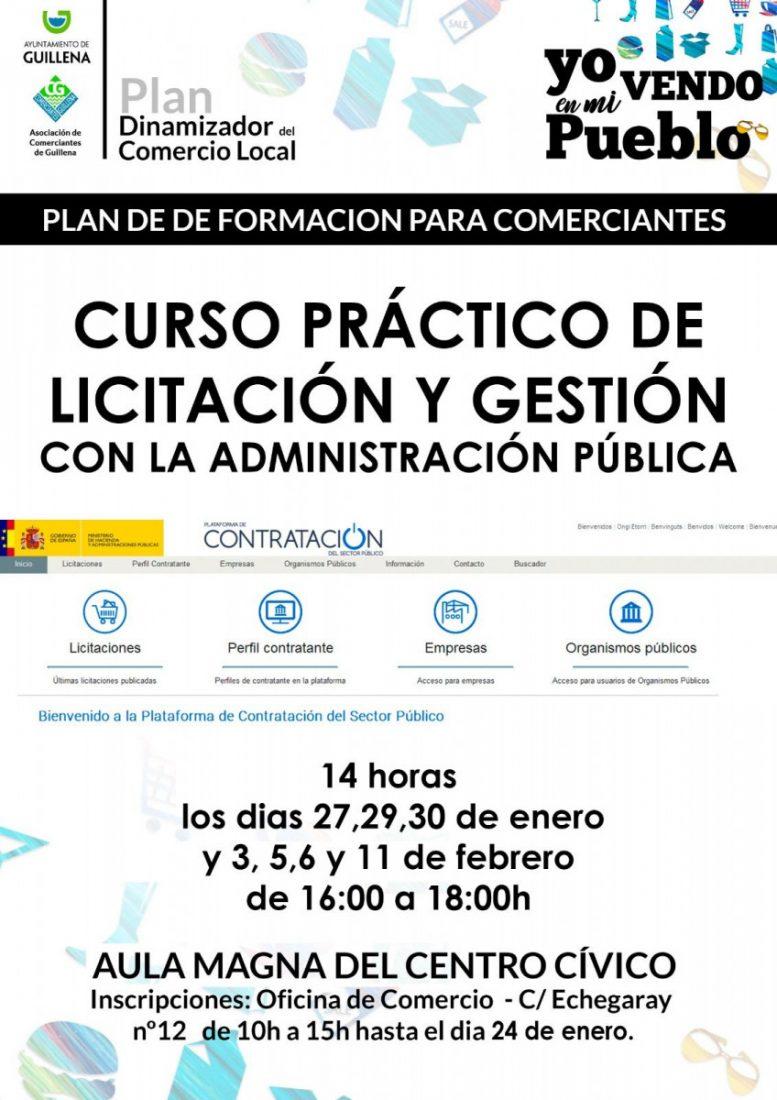AionSur cartel-curso-formacion-compressor Guillena organiza un nuevo curso para comerciantes de licitación y gestión de administración pública Guillena