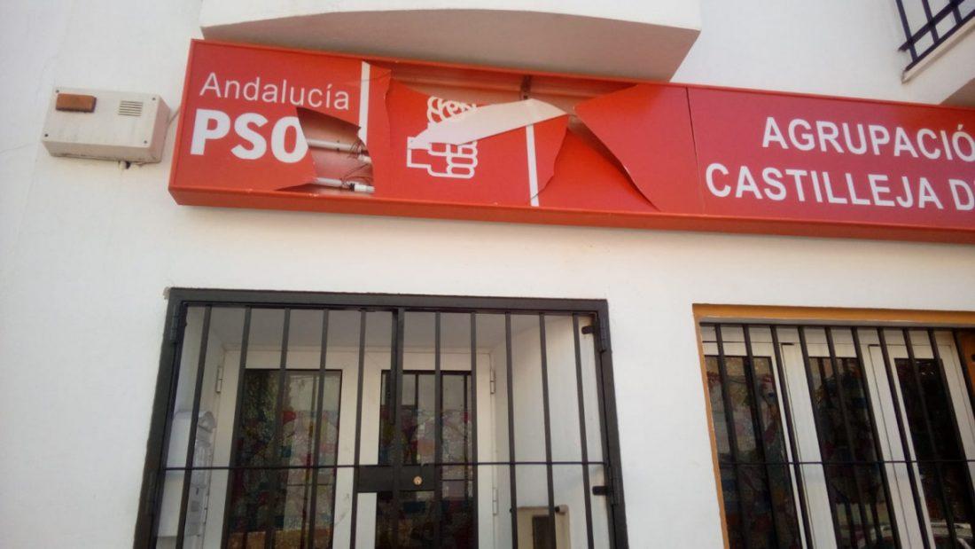 AionSur psoe-castilleja Atacan la sede del PSOE de Castilleja de la Cuesta Provincia Sucesos