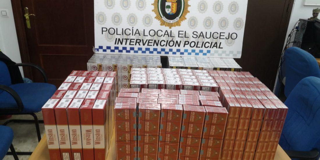 AionSur 83953481_1130799140588193_9019528740048207872_o-compressor La Policía Local de El Saucejo se incauta de 1.500 cajetillas de tabaco en un control por el estado de alarma El Saucejo Sucesos
