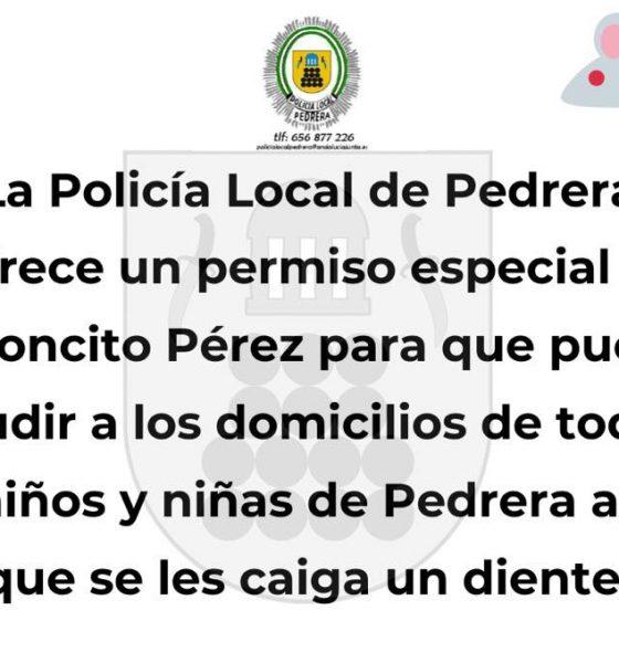 AionSur 90524961_2812581525529128_6150435271436402688_n-1-compressor-560x600 La Policía Local de Pedrera certifica que el Ratoncito Pérez puede entrar en la localidad Coronavirus Sierra Sur