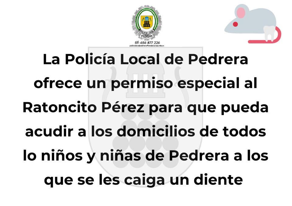 AionSur 90524961_2812581525529128_6150435271436402688_n-1-compressor La Policía Local de Pedrera certifica que el Ratoncito Pérez puede entrar en la localidad Coronavirus Sierra Sur