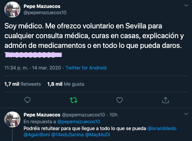 AionSur medico-voluntario Un médico sevillano se ofrece para atender gratis a quien lo precise Coronavirus Salud Sevilla