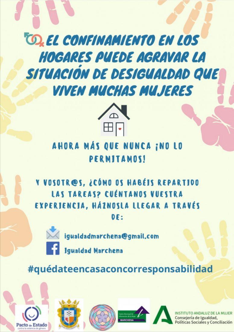 AionSur CARTEL-CAMPAÑA-CORRESPONSABILIDAD-POBLACIÓN-EN-GENERAL Marchena apuesta por la corresponsabilidad y el reparto equilibrado de las tareas doméstica Coronavirus Marchena