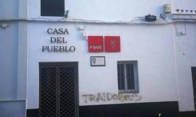 """AionSur PSOE-lepe-pintada-400x240 El PP condena una pintada en la sede del PSOE de Lepe que les acusa de """"traidores"""" Coronavirus Huelva Sin categoría"""