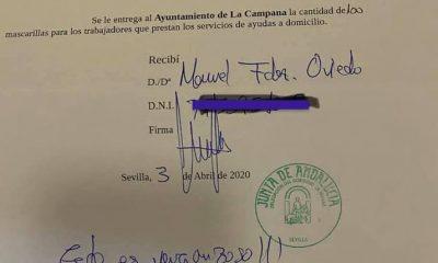 """AionSur coronavirus-campana-400x240 El alcalde de La Campana firma con """"esto es vergonzoso"""" la recepción de mascarillas para el pueblo Coronavirus Provincia"""