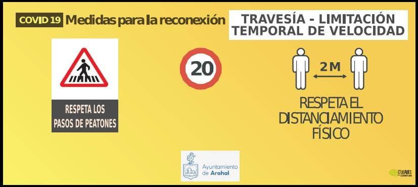 AionSur 4-señal-vehículo-TRAVESIA-puerta-osuna-oleo-barriete-1 Plan de movilidad en Arahal contra el coronavirus Arahal Coronavirus destacado