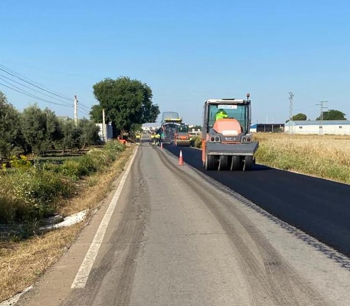 AionSur Carretera-Marinaleda La carretera de Marinaleda a El Rubio es arreglada tras años de peticiones Provincia Sierra Sur