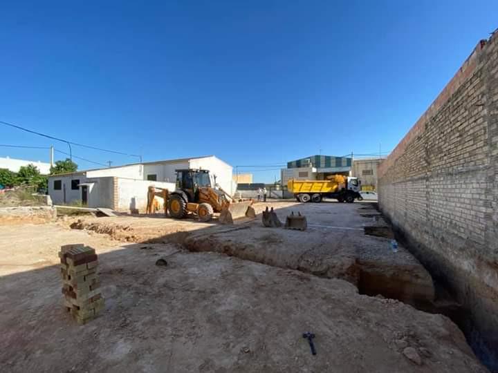 AionSur Herrera-obras En marcha las obras del nuevo centro de formación municipal de Herrera Herrera