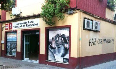 AionSur psoe-pintadas-400x240 El PSOE condena unas pintadas amenazantes en su sede de Triana Política Sucesos destacado