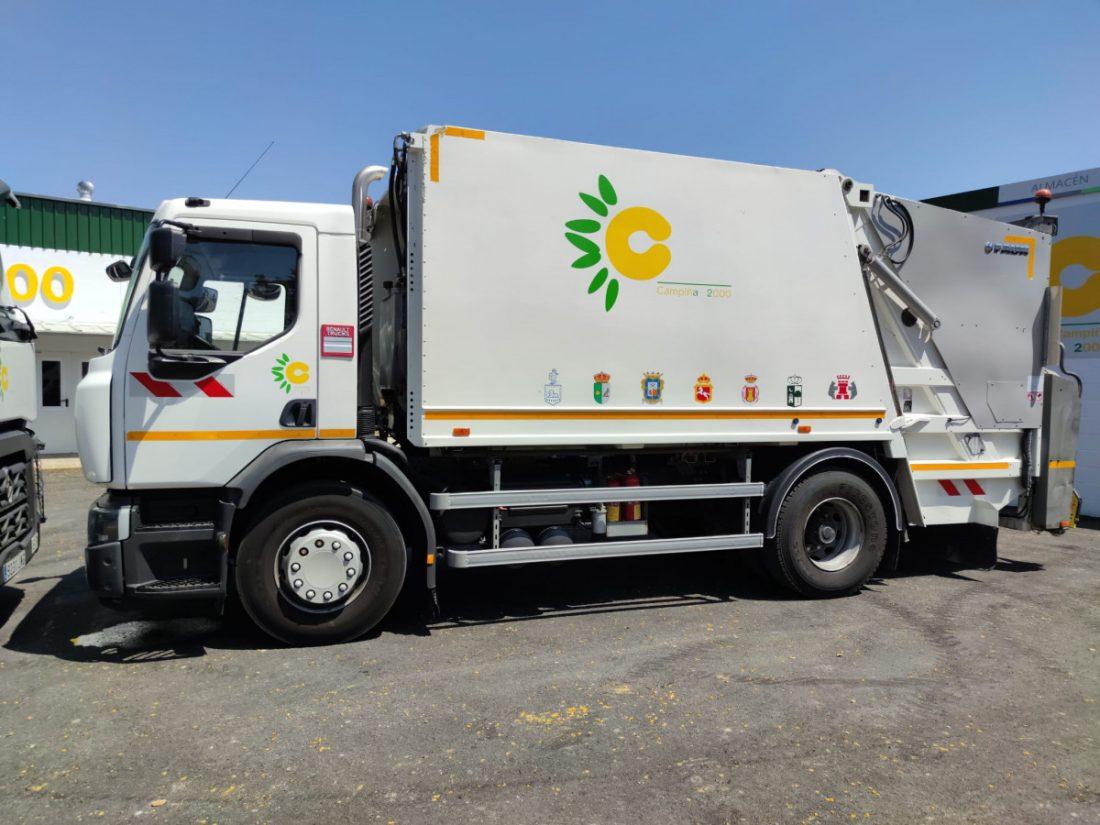 AionSur 7cf22cd0-b8d1-49db-9813-ffa0e610de89-min Dos nuevos camiones de recogida de material reciclado se incorporan al servicio de la Mancomunidad Campiña 2000 Campiña Morón y Marchena destacado