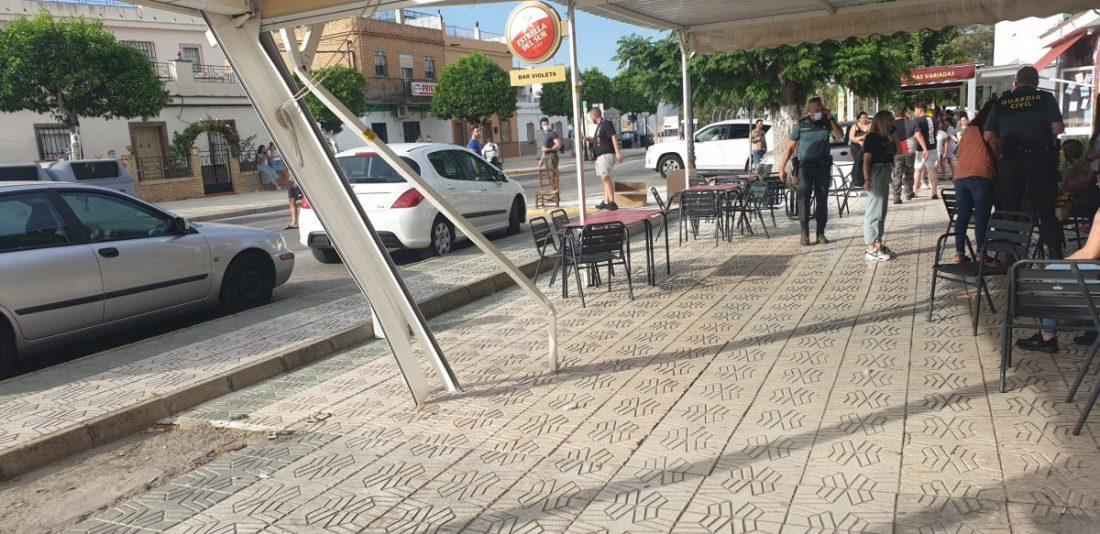 AionSur Guillena-sucesos Detenido tras atropellar a varias personas en la terraza de un bar de Guillena Guillena Sucesos