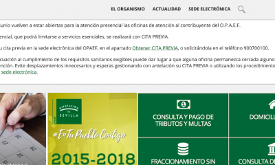 AionSur Opaef-web-400x240 Los sevillanos pueden fraccionar el pago de impuestos sin intereses Diputación Provincia Sevilla