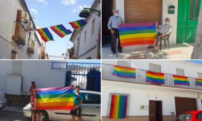 AionSur banderas-algaidas-1-400x240 Obligan a un pueblo a retirar la bandera del Orgullo y los vecinos cuelgan cientos Málaga Sociedad destacado