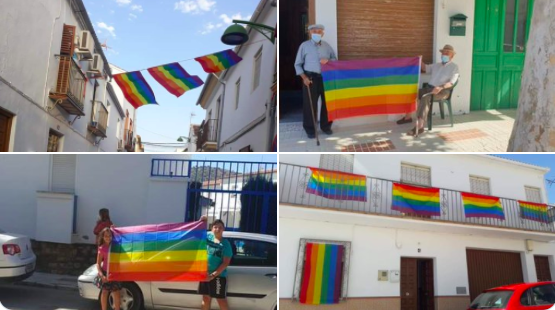 AionSur banderas-algaidas-1 Obligan a un pueblo a retirar la bandera del Orgullo y los vecinos cuelgan cientos Málaga Sociedad destacado