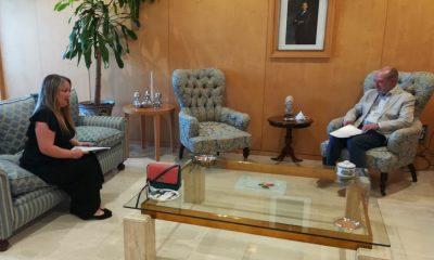 AionSur coripe-alcaldesa-400x240 Villalobos retoma el contacto con los alcaldes recibiendo a la alcaldesa de Coripe Coripe Diputación