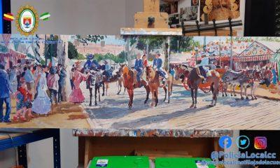 AionSur cuadro-robado-400x240 Se lleva a su casa una obra de arte pensando que era un cuadro abandonado Castilleja de la Cuesta Cultura