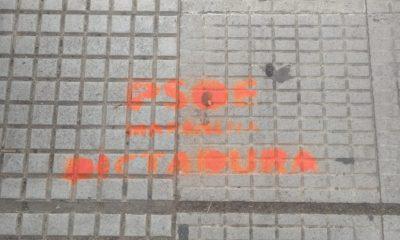 """AionSur 741cab22-53c0-4e52-b0a9-288ed510a102-min-400x240 Pintadas de """"PSOE dictador"""" en una plaza de Marchena en pleno conflicto con la Policía Marchena destacado"""