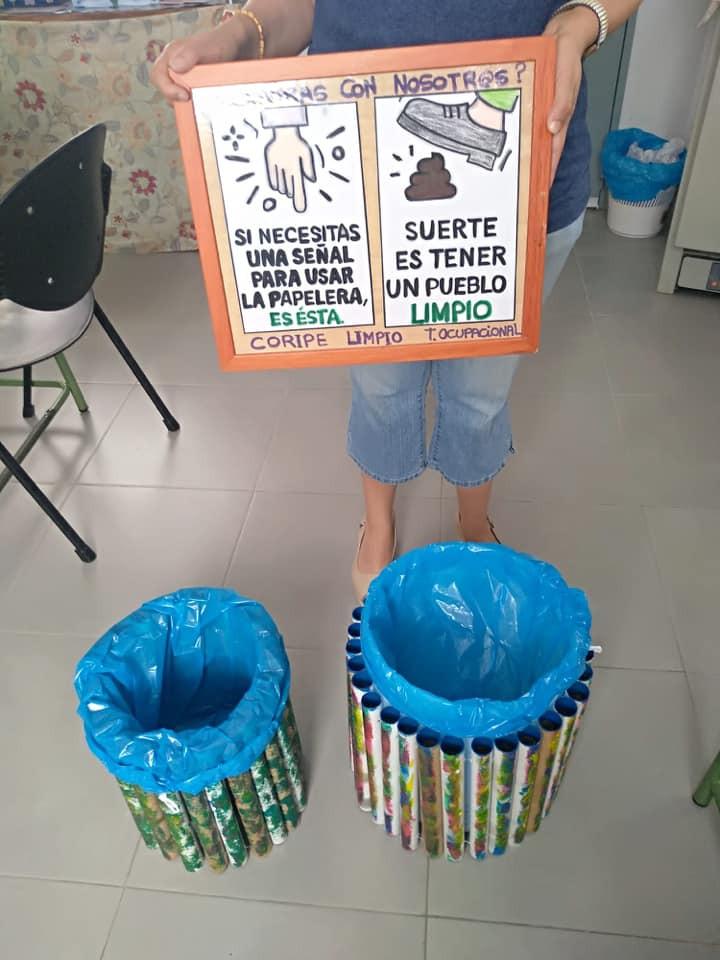 AionSur Coripe-papeleras Unas papeleras con mucho arte para los vecinos de Coripe Coripe Sociedad