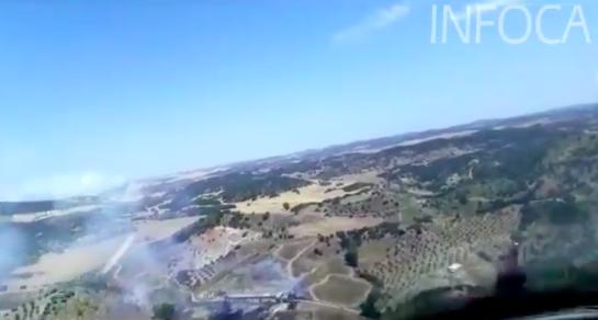 AionSur Incendio Un incendio forestal afecta a un paraje a las afueras de Coripe Coripe Incendios Forestales Sucesos