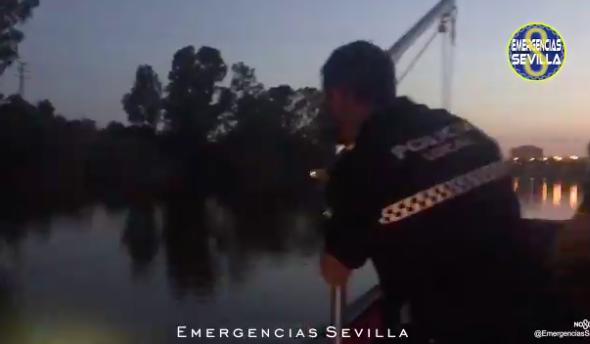 AionSur Policia-Sevilla-590x344 Rescatan a un hombre que se lanzó ebrio al Guadalquivir en Sevilla Sevilla Sucesos destacado