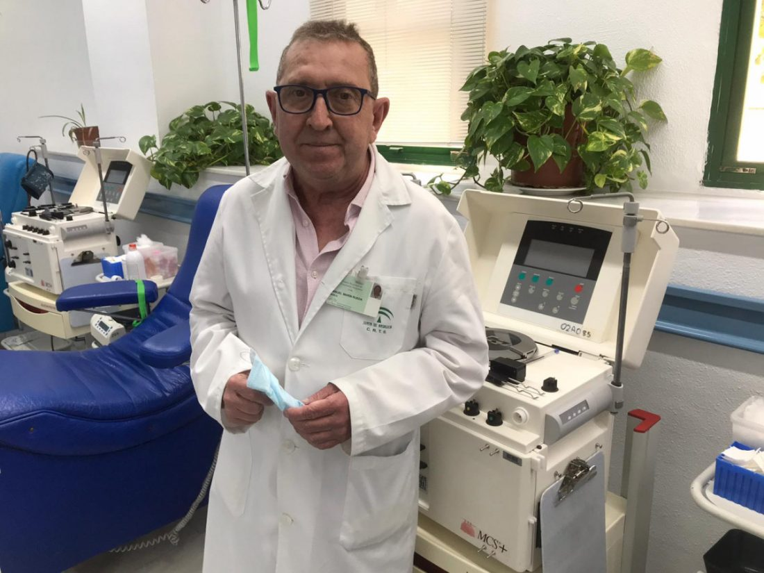 AionSur Sangre-Manolo-Marin-1 Manolo Marín, toda una vida dedicada a que no falte sangre en los hospitales Provincia Salud Sevilla destacado