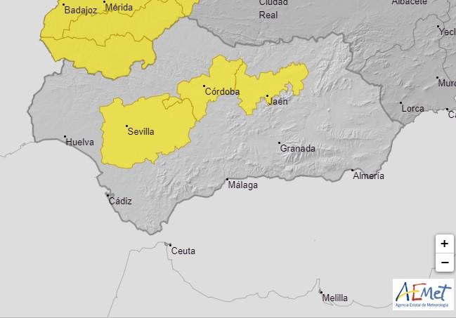 AionSur calor-avisos Activados avisos para mañana por calor en las campiñas de Sevilla y Córdoba Córdoba Sevilla Sociedad