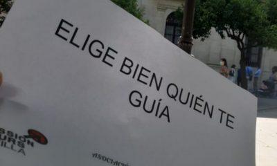 """AionSur guias-sevilla-1-400x240 Llamamiento unánime de los guías turísticos: """"Elige bien quién te guía"""" Economía Sevilla Sociedad"""